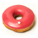 donut fourré au coulis de framboise