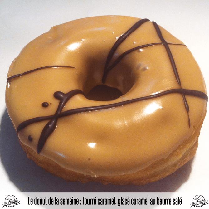 donut fourré caramel, glacé caramel au beurre salé