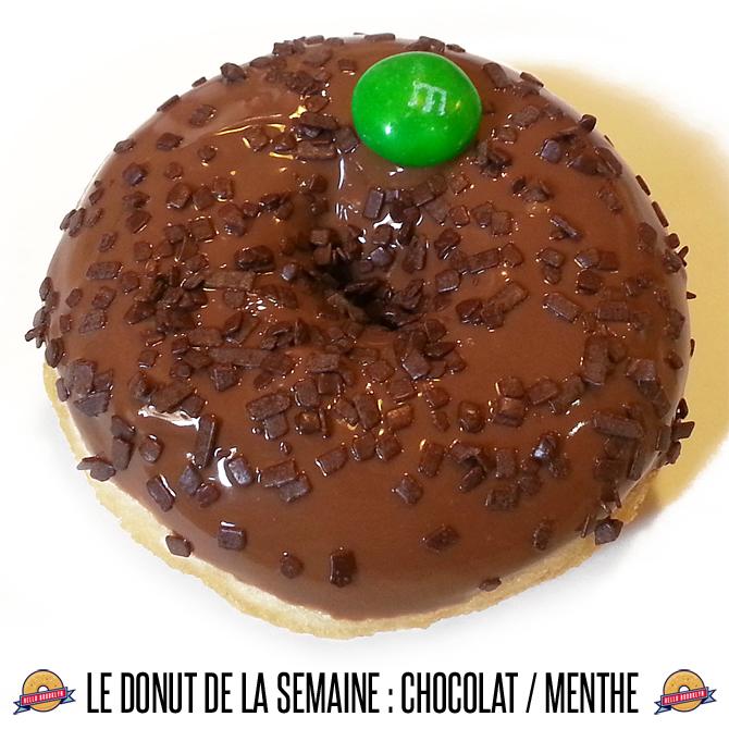 doughnut chocolat menthe