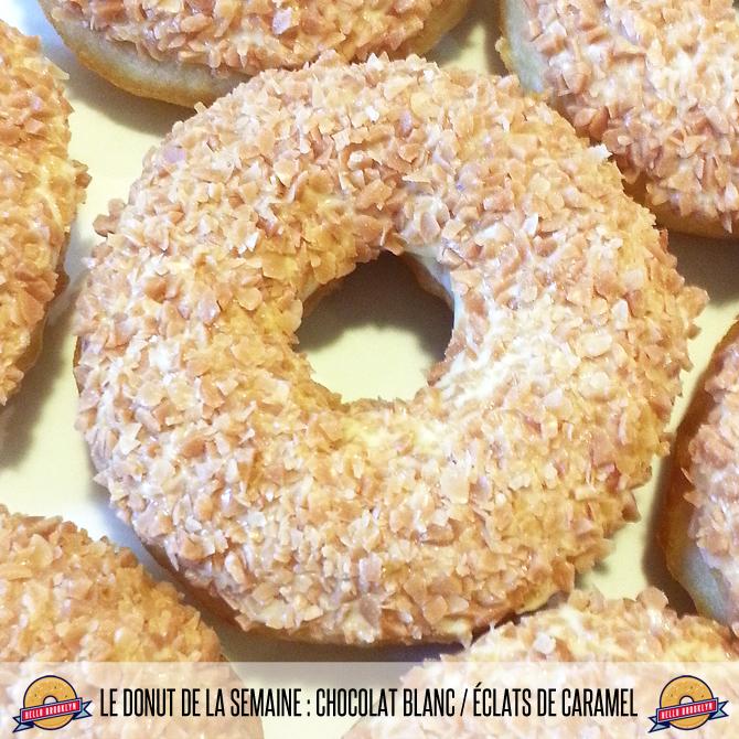 Le donut de la semaine : chocolat blanc / éclats de caramel