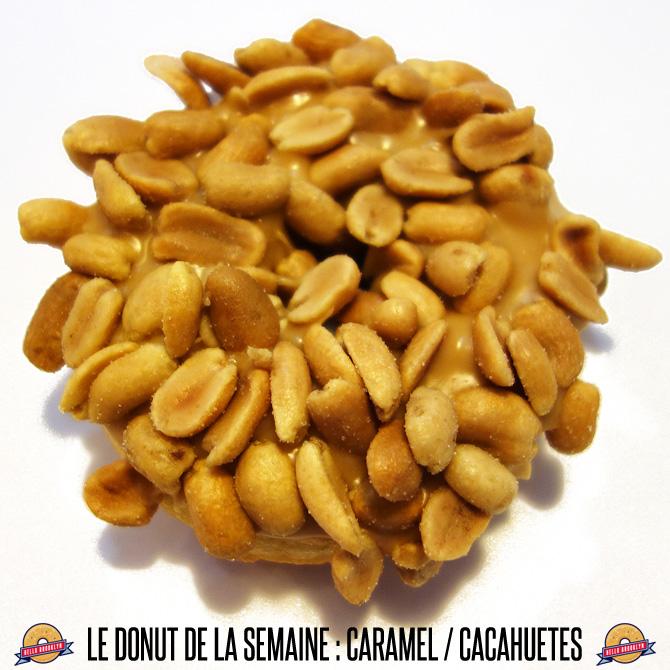 donut caramel / cacahuètes