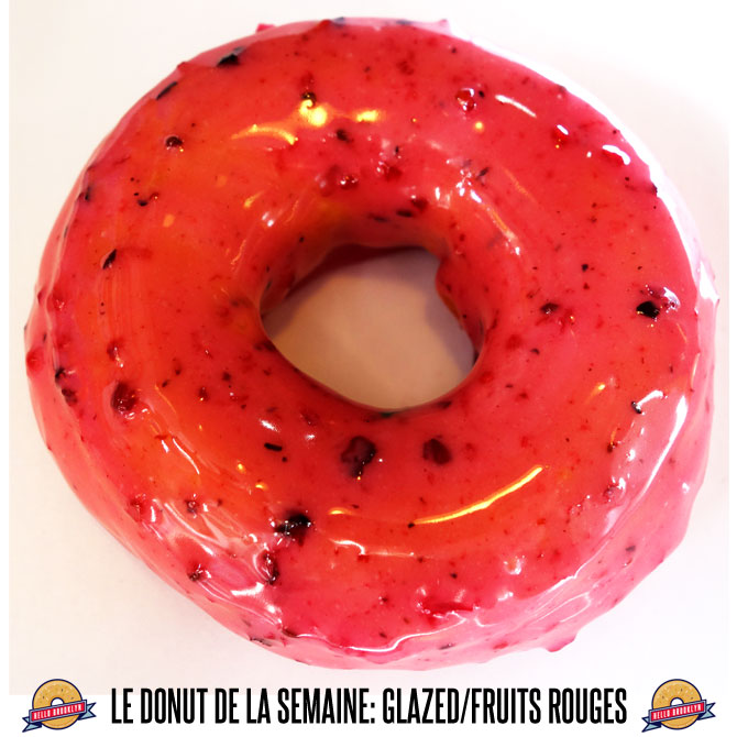 donut glazed fruits rouges