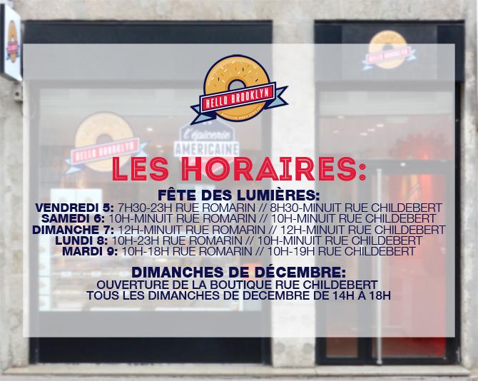 horaires boutiques de donuts lyon