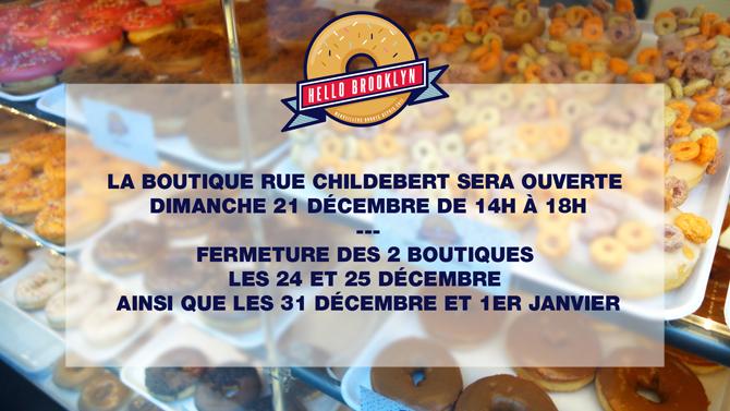 ouverture boutique donuts noel