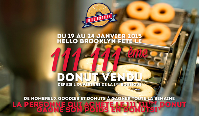 111 111eme donut vendu