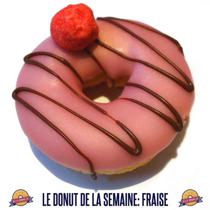 Donut à la fraise