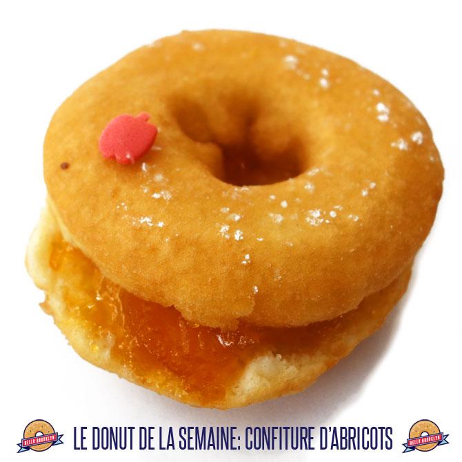 donut confiture abricot
