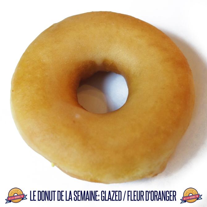Le donut de la semaine: glazed à la fleur d'oranger.