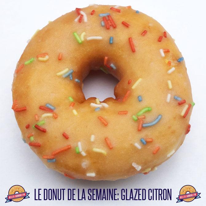 donut glazed citron