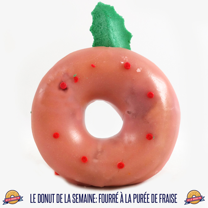 le donut de la semaine: fourré à la purée de fraise
