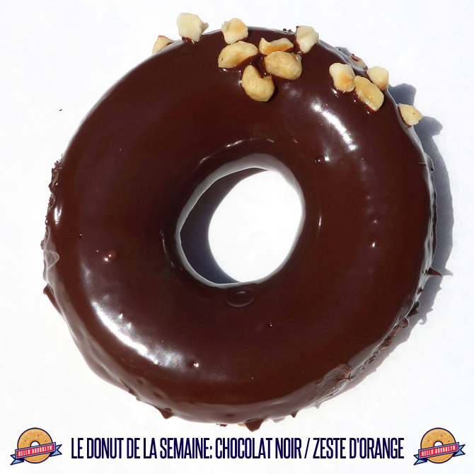 le donut de la semaine: chocolat noir / zeste d'orange