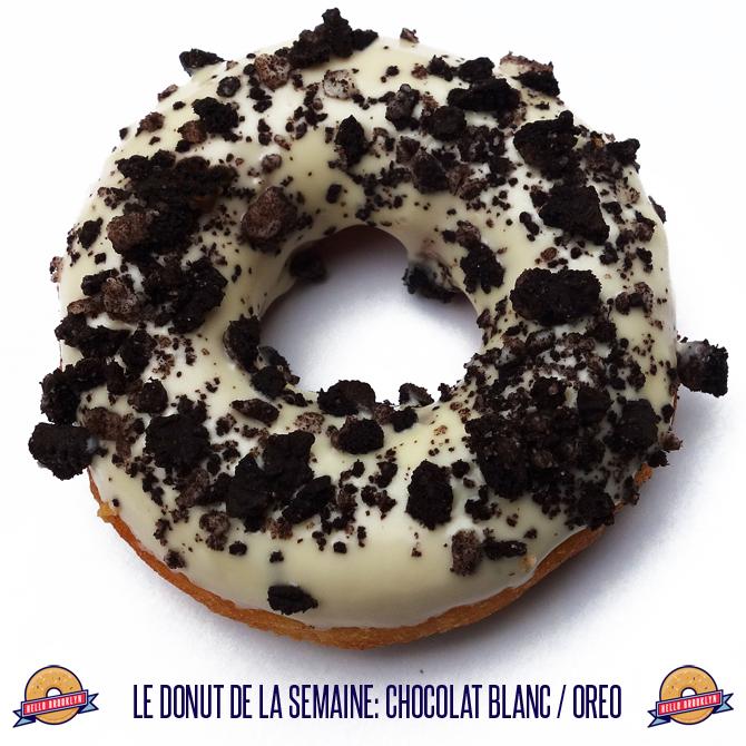 Donut de la semaine: chocolat blanc / oréo