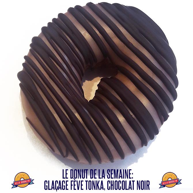 le donut de la semaine:Glaçage fève tonka, chocolat noir