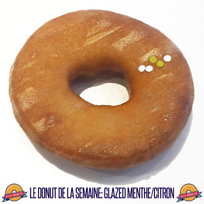 Le donut de la semaine: glazed menthe / citron !