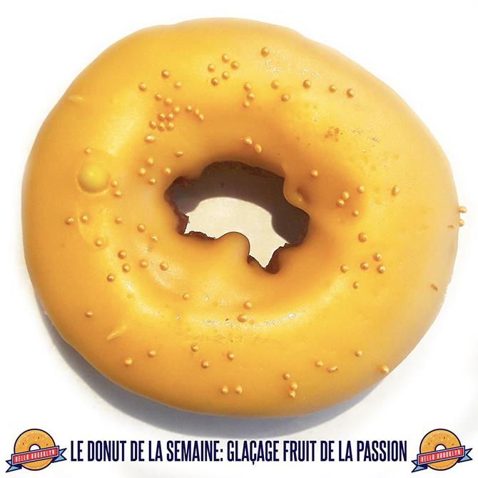 Le donut de la semaine: glaçage fruit de la passion !