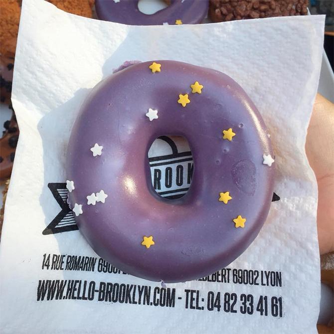 Le donut de la semaine: fourré au coulis de cassis !